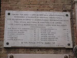 Olocausto Siena