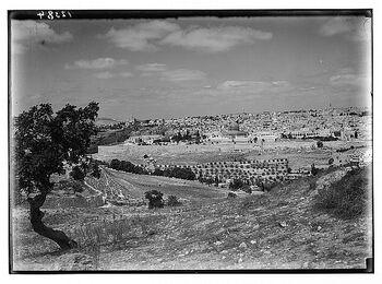Jerusalem from mount olive