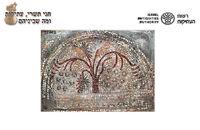 5 קטע רצפת פסיפס מעוטר בעץ תמר נערן התקופה הביזנטית