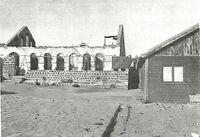 חצר פוריה לפני פירוק צריפי אלומות 1946