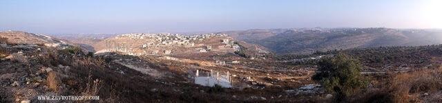 תצפית וילי שבוני לצפון. מימין ג'אניה, ביתילו, נבי ע'ית', דיר עמר וכפר ניעמה