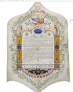 Ketubbà Benoliel - Ben Zonana, Roma 1857 (The Israel