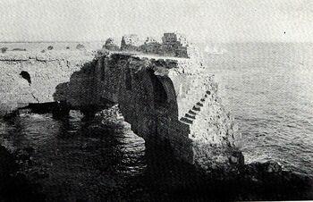 תמונה היסטורית של חומת העיר עכו