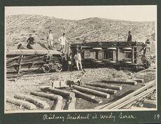 Railway accident at Wady Sarar, 1917