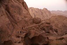 Hiking on Mount Sinai