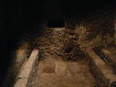 The Jewish Ghetto of Pitigliano, ritual bath cut into the tufa rock 2
