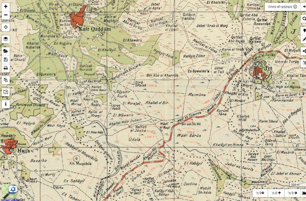 מפה מנדטורית משנות ה-40