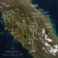 Via Flaminia map