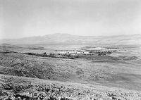 Lake Huleh & Mt Hermon from the Safad road 1940 1946