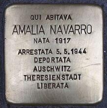 Stolperstein für Amalia Navarro