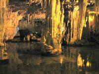Stalactite and the salt lake a cave of neftune sardignia