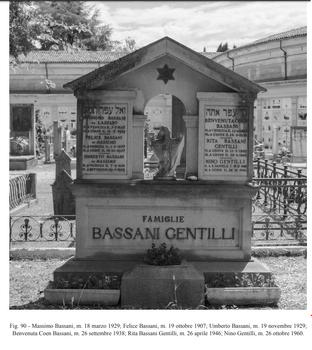 מצבות יהודיות במחוז Freiuli בצפון איטליה בתוך בית קברות כללח 01