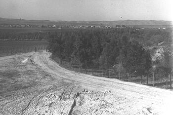 VIEW OF AFULA IN THE JEZREEL VALLEY. עפולה בעמק יזרעאל.D25-017