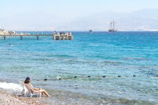 Eilat South beach Israel