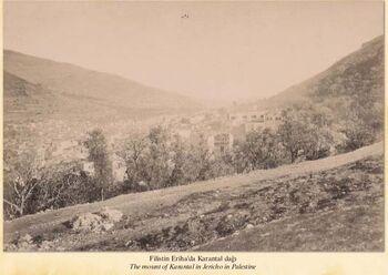 מבט להר הקרנטל ביריחו