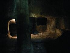 The Jewish Ghetto of Pitigliano, kosher slaughter house cut into the tufa rock
