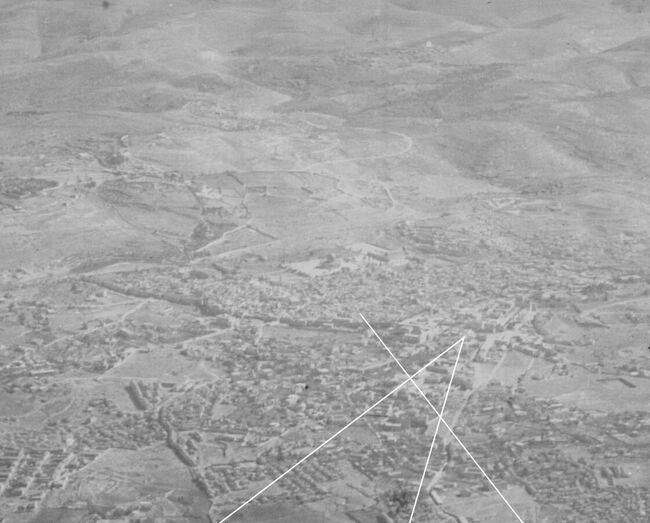 צילום אויר של הטייס הבאורית במלמת העולם הראשונה