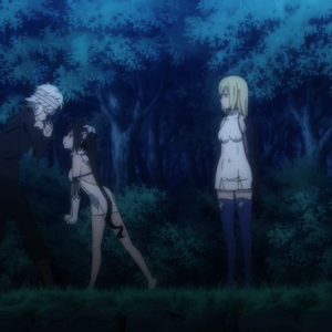 Bell, Aiz, and Hestia.png