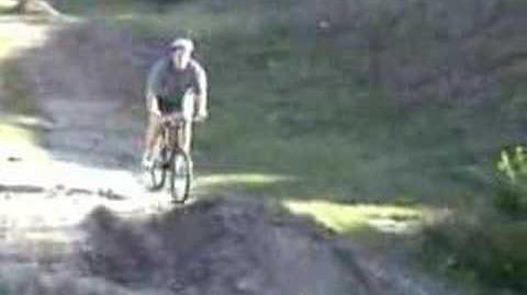 Fat Kid fall off bike