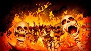 Burning Skeletons