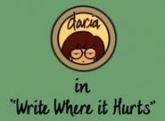 Writewhereithurts