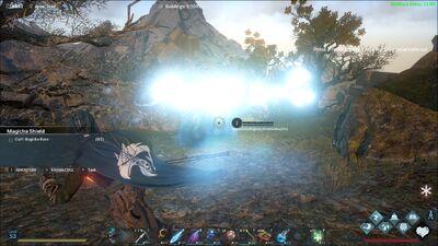 The Sluagh's Wave of Light attack