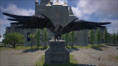 Talos City Griffin statue.png
