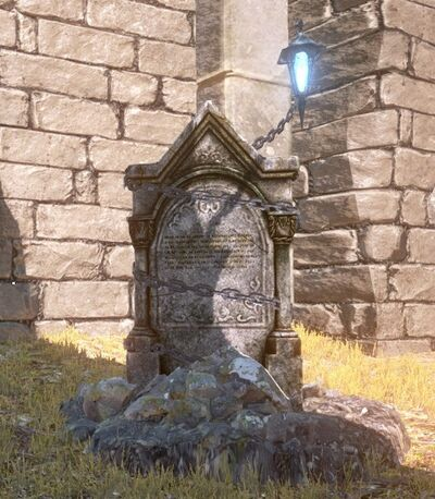 A gravestone shere the Sluagh spawns.