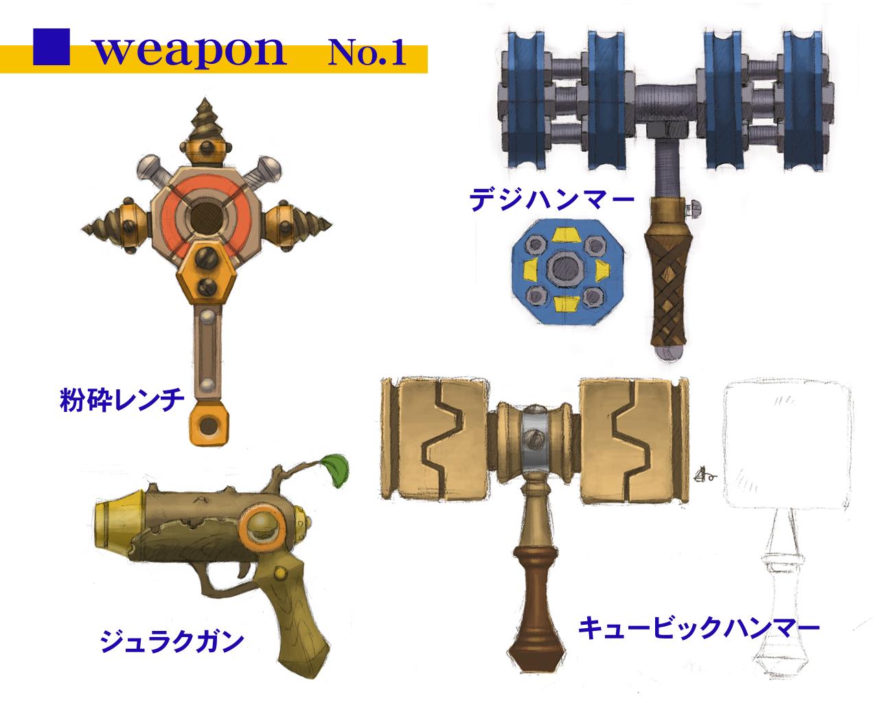 Maximilian's ranged weapons