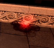 Пятно с красным свечением