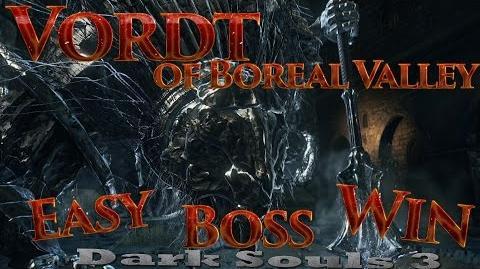 Dark Souls 3 Vordt of Boreal Valley Boss EASY