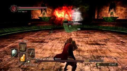 Dark Souls 2 - Mytha, the Baneful Queen (Melee) Phantom Summon - Jester Thomas