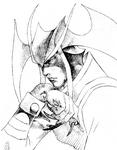 Vampire Savior Jedah opening sketch