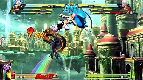 Marvel vs Capcom 3 Felicia Gameplay Montage