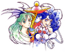 With Morrigan and Felicia