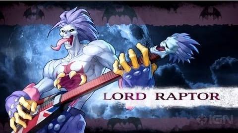 Darkstalkers - Lord Raptor Moves List
