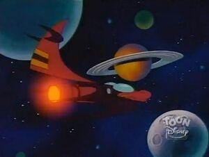 When Aliens Collide - Darkwing's spaceship.jpg
