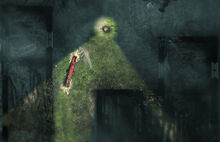 A portion of the Burned Houses, as seen in-game