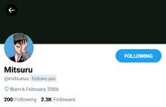 Mitsuru twitter profile (unofficial)