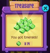 Chest emeralds
