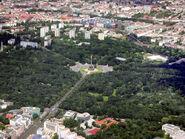 Berlin Tiergarten Siegessäule Luftansicht