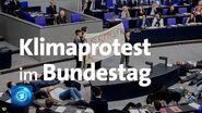 Klimaprotest bei Jugend-Planspiel im Bundestag