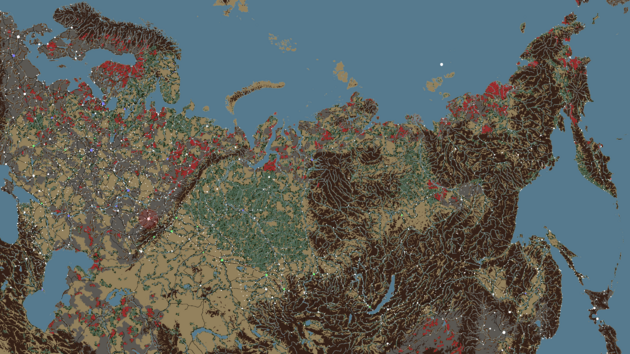 World map biomes cities v670