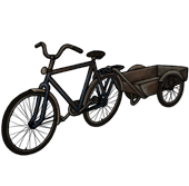 Bicycle with a cart