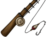 Sturdy fishing rod