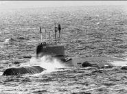 Real life yankee-class Soviet K-420 submarine
