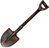 Rusted shovel