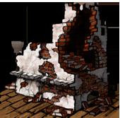 Ruined brick oven