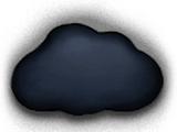 Black ash cloud