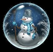 Шар со Снеговиком